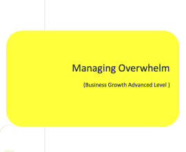 L2G Workbook - Managing Overwhelm