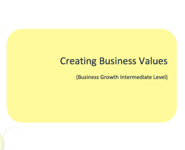 L2G Workbook - Creating Business Values