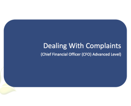 L2G Workbook - Dealing with Complaints