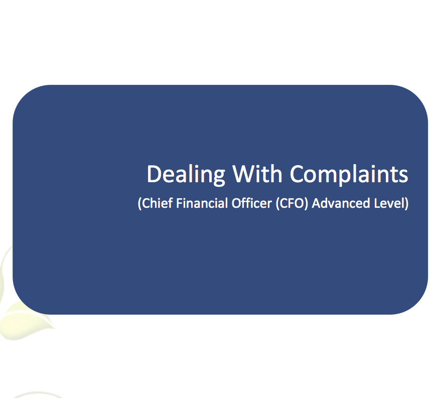 dealing with complaints Misunderstandings and mistakes happen in every business how you deal with the customer complaints that result is very important after all, you don't want those customers to take their business elsewhere.