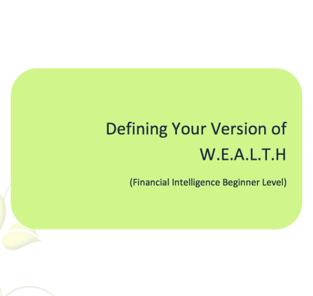 TL L2G Workbook - Defining Your Version of W.E.A.L.T.H