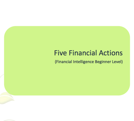 L2G Workbook - Five Financial Actions - Initial Workbook