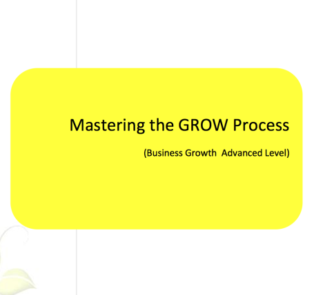 L2G Workbook - Mastering the GROW Process