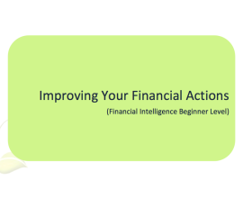 L2G Workbook - Improving Your Financial Actions