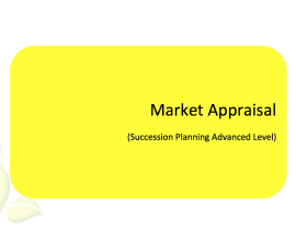 L2G Workbook - Market Appraisal