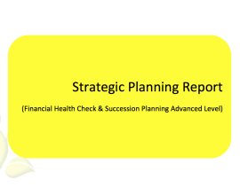 L2G Workbook - Strategic Planning Report