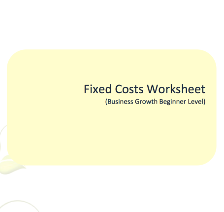 L2G Workbook - Fixed Costs Worksheet