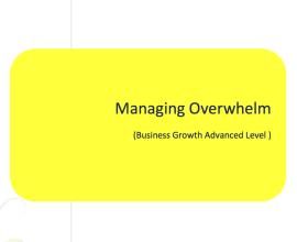 L2G Workbook - Managing Overwhelm