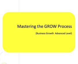 L2G Workbook - Mastering the GROW Process