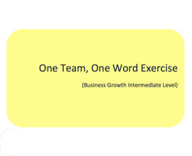 L2G Workbook - One Team, One Word Exercise