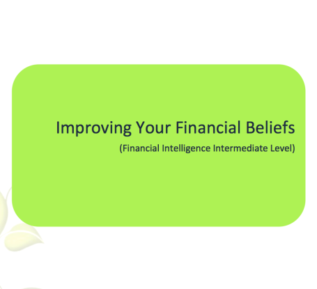 L2G Workbook - Improving Your Financial Beliefs