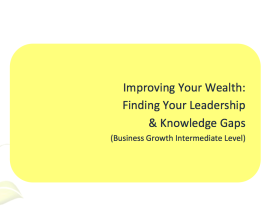L2G Workbook - Improving your wealth - finding your leadership & knowledge gaps