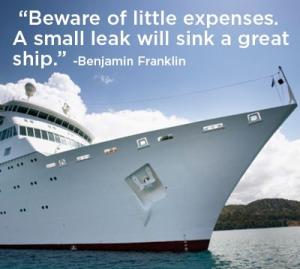 Beware Small Expenses